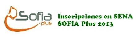 Inscripciones Sena 2013