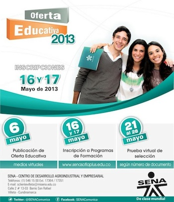 oferta educativa SENA 2013