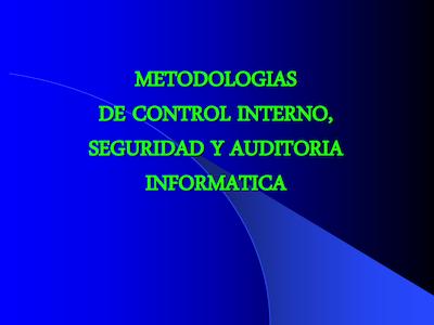 Curso Controles y seguridad informatica