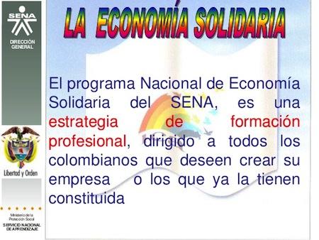 Curso de Economia Solidaria en SENA