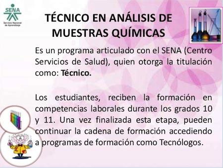 Tecnico en analisis de muestras Quimicas