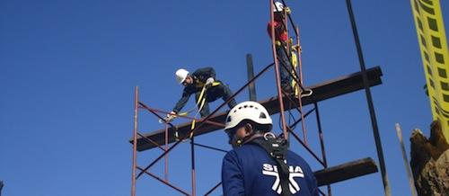 Curso trabajo seguro en alturas